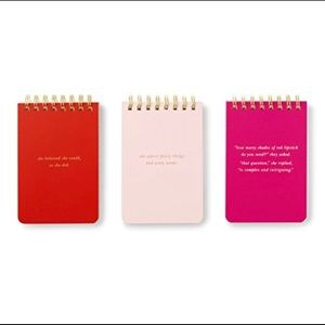 NIB Kate Spade Spiral Notepad Set of 3